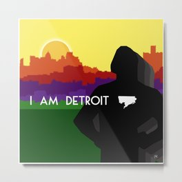 I AM DETROIT Metal Print