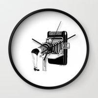 selfie Wall Clocks featuring Selfie by Henn Kim