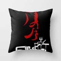 the godfather Throw Pillows featuring Godfather! The Animated Series by Miguel Roselló