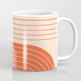 Two Tone Line Curvature XI  Coffee Mug