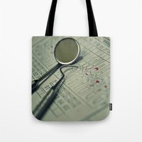 dentist Tote Bags featuring A DENTIST by Ruby_Dag