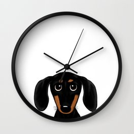 Black and Tan Shorthaired Dachshund Wall Clock