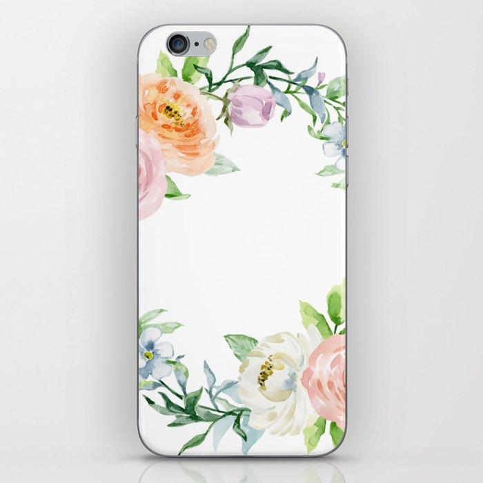 Flower wreath iPhone Skin