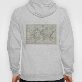 Vintage Map of The World (1784) Hoody