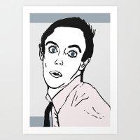 iggy pop Art Prints featuring Iggy Pop by Matt Ferguson