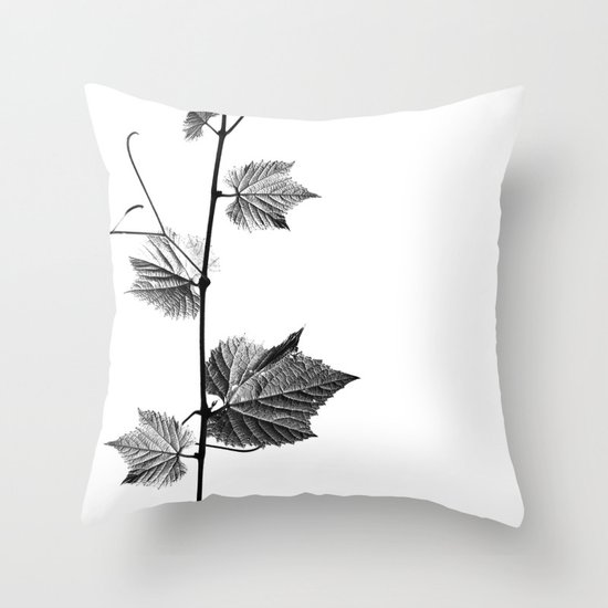 wine leaf abstract III Throw Pillow