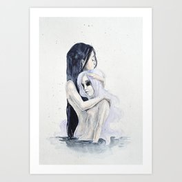 Internal consolation Art Print
