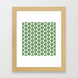 Hearts Clover Pattern Framed Art Print