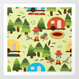 Caravan Campground Vacation Art Print