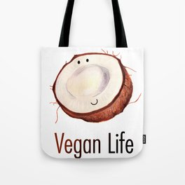 Happy coconut vegan life Tote Bag
