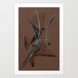 Stone Curve Abstract Art Print