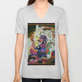 Art Nouveau Ladies - Gustav Klimt Unisex V-Neck