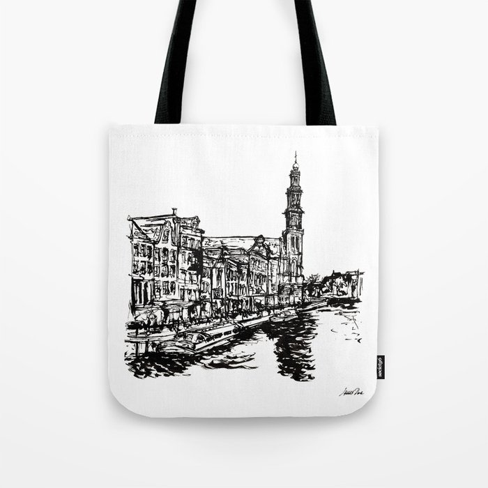Urban Inkscape 4 Amsterdam Tote Bag