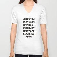 alphabet V-neck T-shirts featuring Alphabet by Fanny Öqvist Westerberg