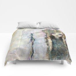 Gesso Geisha by Jane Davenport Comforters