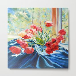 Morning tulips Metal Print