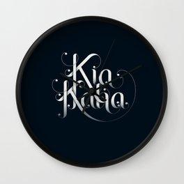 Kia Kaha Wall Clock