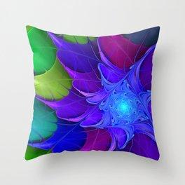 Artistic fractal abstract colour wheel Throw Pillow