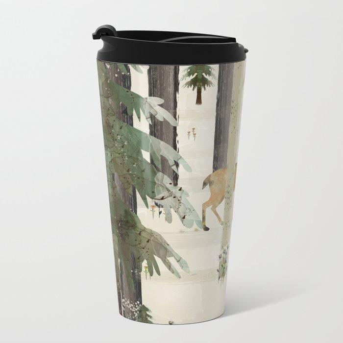 nature's way the deer Metal Travel Mug