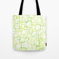 jojo Tote Bags featuring #52. JOJO - Squares by sylvieceres