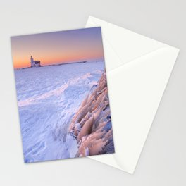 Lighthouse of Marken, The Netherlands at sunrise in winter Stationery Cards