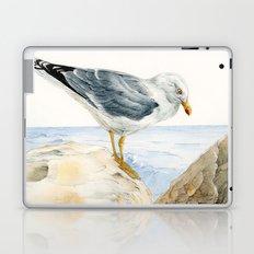 Seagull  - nesting bird on the Ligurian coast Laptop & iPad Skin