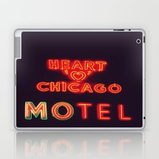 Heart 'O' Chicago Motel (Night) ~ vintage neon sign Laptop & iPad Skin