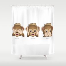 See No Reus, Hear No Reus, Speak No Reus Shower Curtain