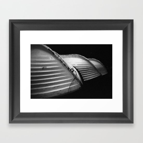 Row Boats 1 Framed Art Print
