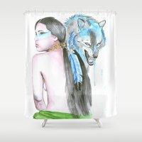 indie Shower Curtains featuring Indie by Tamara Kajper
