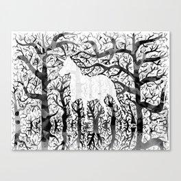 Haunting Unicorn Canvas Print