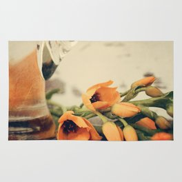 Tulips of orange Rug