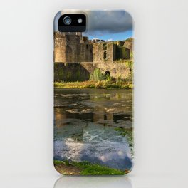 Caerphilly Castle Moat iPhone Case