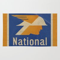 the national Area & Throw Rugs featuring National Logo by Bruce Stanfield