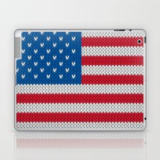 American Flag - knitted Laptop & iPad Skin