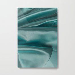 Smooth elegant emerald silk Metal Print