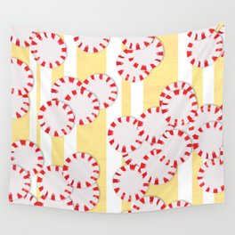moves in red and yellow parts Wall Tapestry
