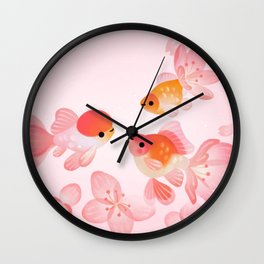 Cherry blossom goldfish Wall Clock