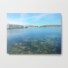 Swanage Sea Metal Print