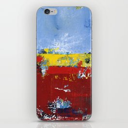Deerfield Red Yellow Blue Abstract Art Primary Colors iPhone Skin
