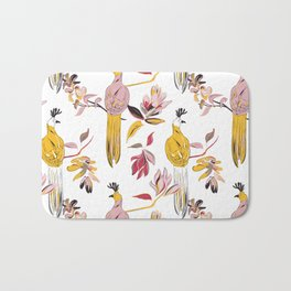 Birds and flowers Bath Mat