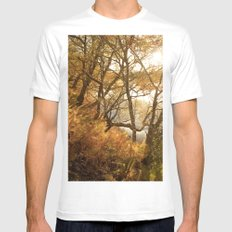 November falls White MEDIUM Mens Fitted Tee