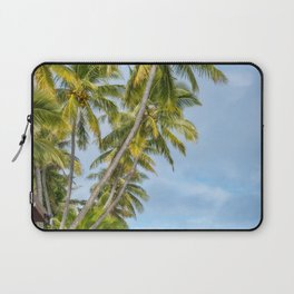 Coconut Palm Trees at Kuto Bay beach in New Caledonia. Laptop Sleeve