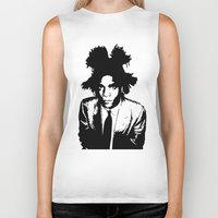 basquiat Biker Tanks featuring BASQUIAT by KING