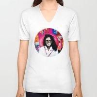 bjork V-neck T-shirts featuring Bjork Tee! by Eric Terino