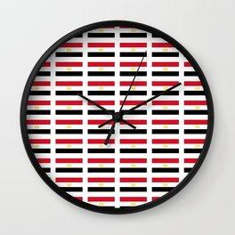 flag of egypt 2 - Egyptian,nile,pyramid,pharaon,cleopatra,moses,cairo,alexandria. Wall Clock