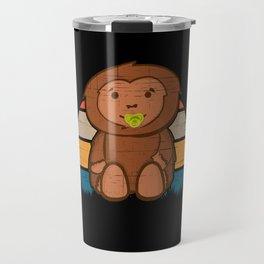 Baby bigfoot, sasquatch, yeti, funny Travel Mug