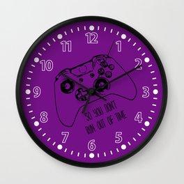 Video Game Purple Wall Clock