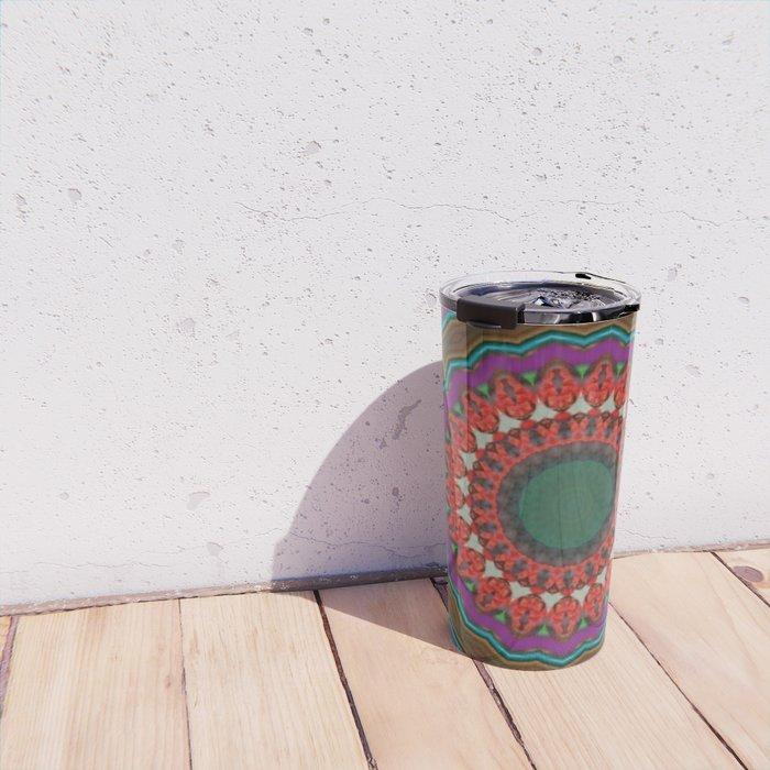 Basal Color Mandala 8 Travel Mug