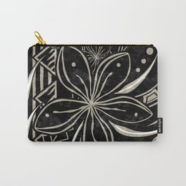 Polynesian Tribal Black And Gold Carry-All Pouch